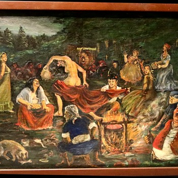 Gypsy Campfire - Outsider Art - Folk Art