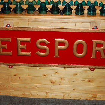 Pennsylvania Railroad Station Sign from Leesport, PA