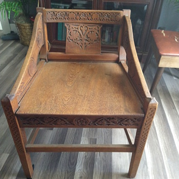 Short wood chair purchased at estate sale - Furniture