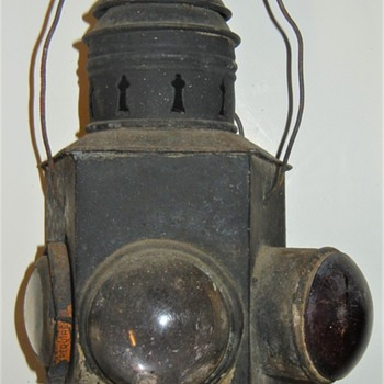 unusual railroad lantern - Railroadiana