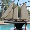 Vintage late 1800's schooner pond boat with lead keel