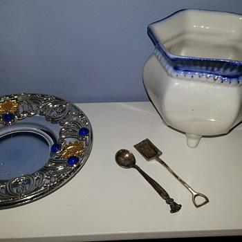 Vintage Sterling Silver Salt Spoon