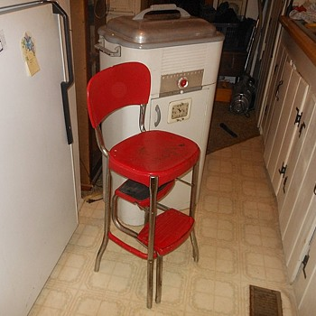 Vintage Cosco Folding Kitchen Stool