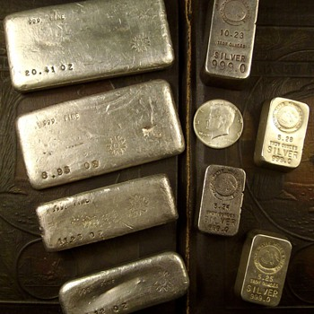 Old Pour Silver Bars - Gold