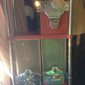 Beaver Mark I Candy Vending Machines with Red 1940's S stand - Coin Operated