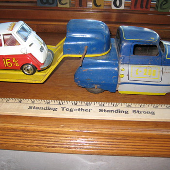 Toy Truck, Trailer and little Car