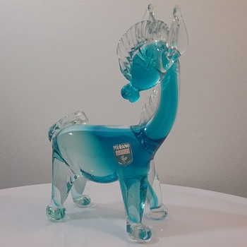 Murano Cenedese glass donkey  - Animals