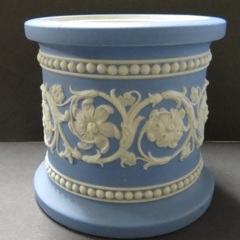 Antique Wedgwood Jasperware Pale Blue Jar - 1868 - No Lid - China and Dinnerware