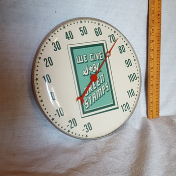 Green Stamp Thermometer  - Advertising