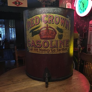 Early 1900's Red Crown Gasoline Barrel  - Petroliana