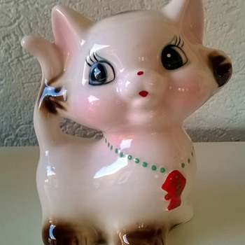 """Kitschy Kat"" Savings Bank Thrift Shop Find 50 Cents"