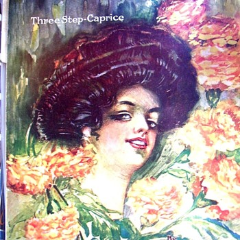 "IS THIS THE BIGGEST GIBSON GIRL HAIR-DO ON SHEET MUSIC COVERS? 1909 ""MARIGOLDS""! - Music Memorabilia"
