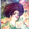"""IS THIS THE BIGGEST GIBSON GIRL HAIR-DO ON SHEET MUSIC COVERS? 1909 """"MARIGOLDS""""!"""