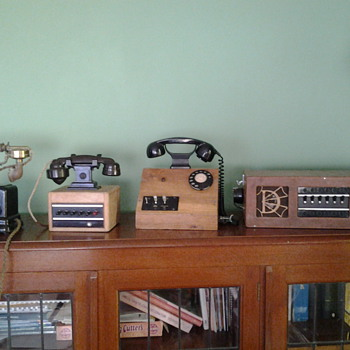 My collection of old telephone and switch boards. - Telephones