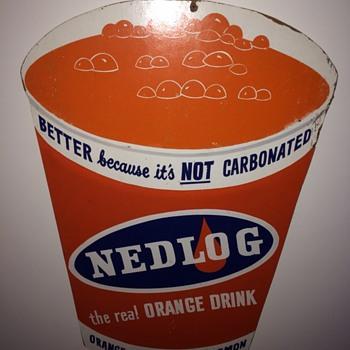 Vintage Nedlog Orange Sign