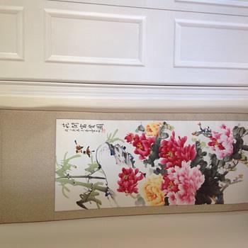 Asian scroll wall hanging - Asian