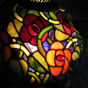 Tiffany Rose Lamp Shape or Repo ?? - Lamps