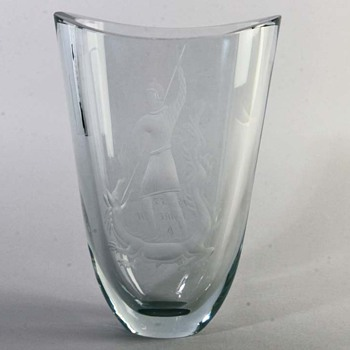 Gunnar Nylund 1955 designed Vase  - Art Glass