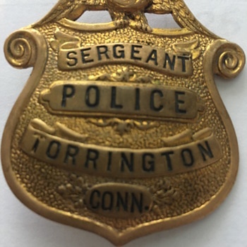 Antique/Vintage Police Badge Pin - Medals Pins and Badges
