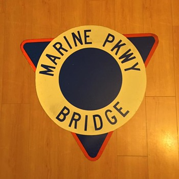 N.O.S. 1965 Marine Parkway Bridge sign from New York City - Signs