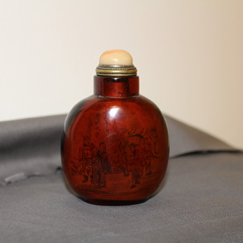Chinese inside painted snuff bottle - Asian