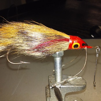 My fathers Bucktail weedless spinner lure