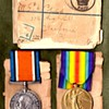 British Victory Medal, War Medal, and Mailing Package.