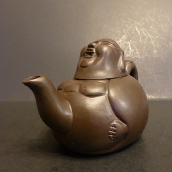 "Yixing Ware ""Fat Man"" Clay Teapot  - China and Dinnerware"