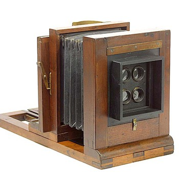 American Multiplying Camera Box by John Stock, late 1860s