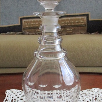 Early Flint Glass Decanter?? - Bottles