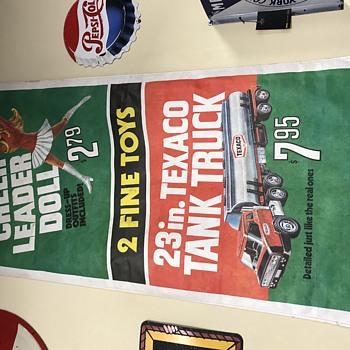Texaco paper sales banner 1960s  - Advertising