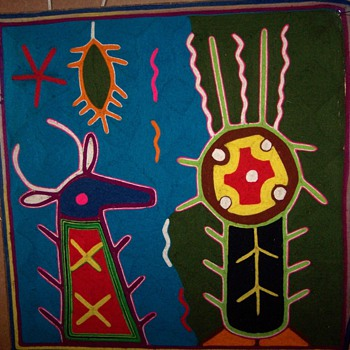 Huichol  Native Yarn Art - Rugs and Textiles