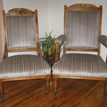 Mr & Mrs Chairs Charles Eastlake?? - Furniture
