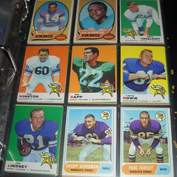 Skol Vikings! 1961-70 Viking cards