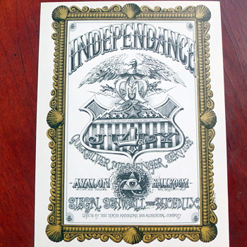 "July 4th 1967 Quicksilver Messenger Service ""Independence"" FD 69"