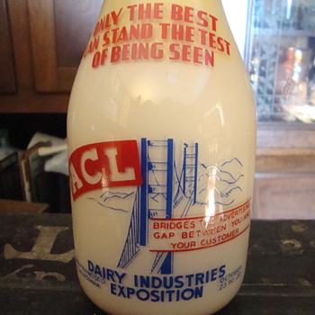 San Francisco Dairy Industries Exposition milk bottle