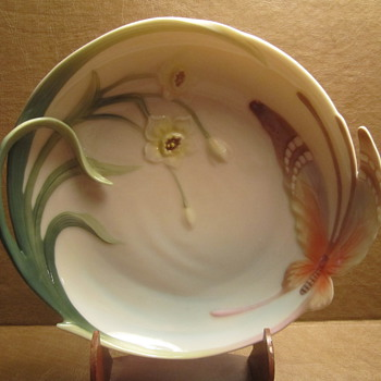 5-pc Franz Porcelain Papillon Butterfly Collection Plate, Cups & Saucers - China and Dinnerware