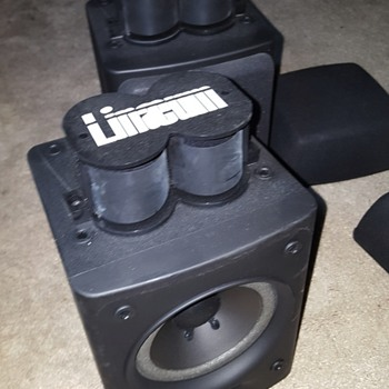 """linaeum tweeter speakers for 4 dollars at goodwill 8 ohm nominal 65w 5"""" cone - Electronics"""
