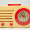"""Catalin FADA """"Bullet"""" Model 1000 in Yellow with Red Trim"""
