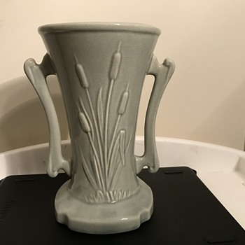 Green glaze vase with handles - Pottery