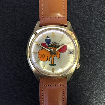 Bullwinkle 14K Gold Wrist Watch by Bulova - Wristwatches