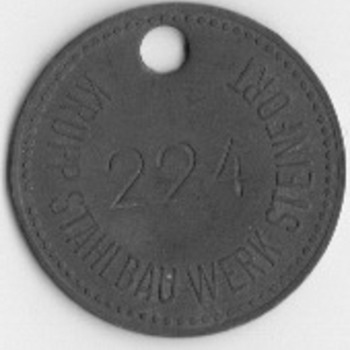 Krupp Stahlbau Werk Steinfort Coin/Tag?
