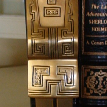 Ronson Chinese Mandarin Scholar Bookends Vintage Art Deco - Asian