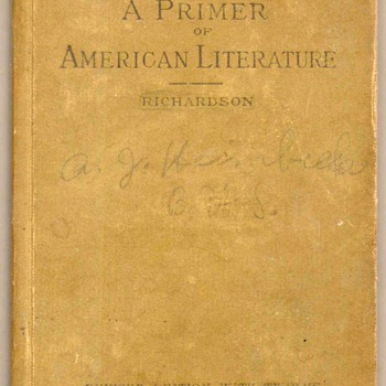 "1894 - ""A Primer to American Literature"" - Books"