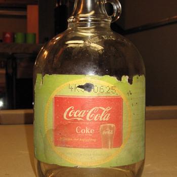Coca-Cola syrup bottle