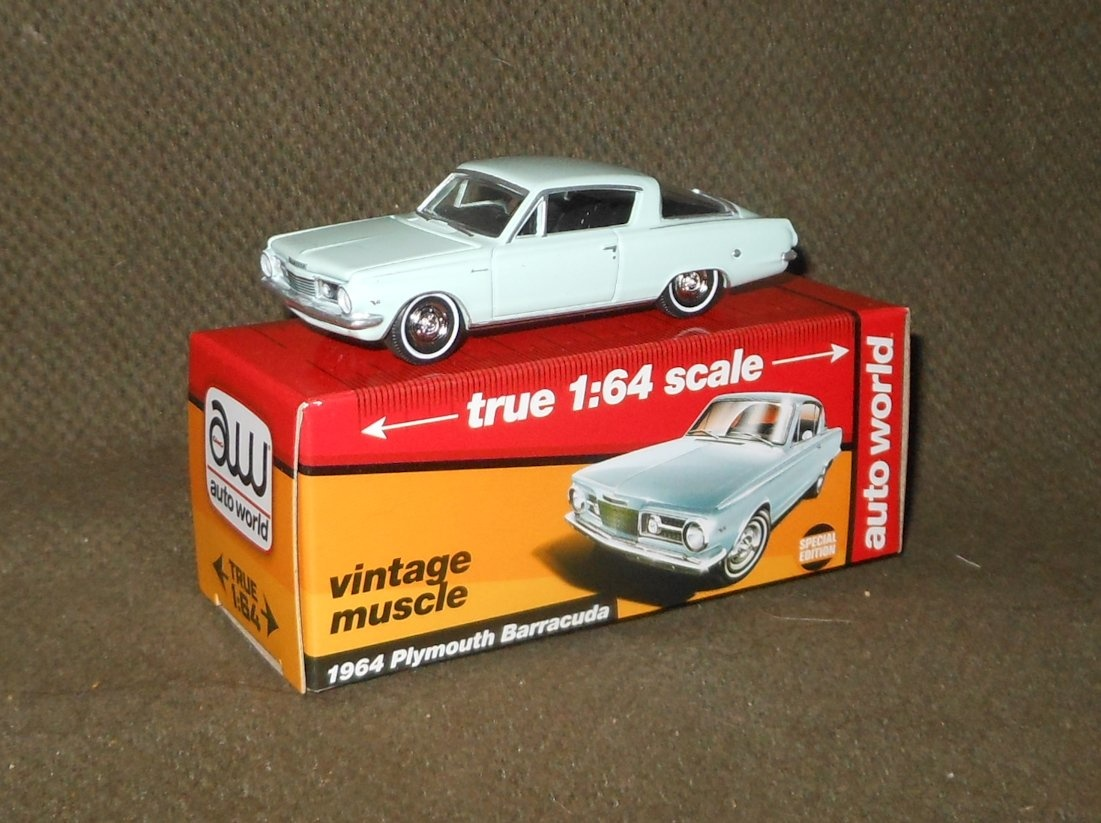 Auto World True 1:64 Scale 1964 Plymouth Barracuda | Collectors Weekly
