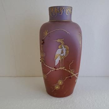 Loetz Alpenrot  Vase 11 1/2 inches - Art Glass