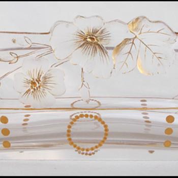 Harrach Intaglio Cut Glass Vase  ( like Moser ) 1900 - Art Glass