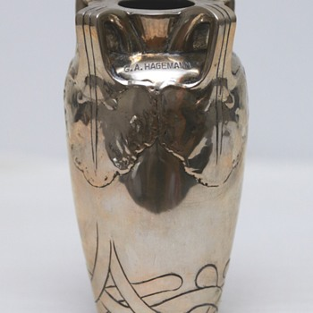 Silver Vase with Inscription (Denmark), 1905 - Art Nouveau