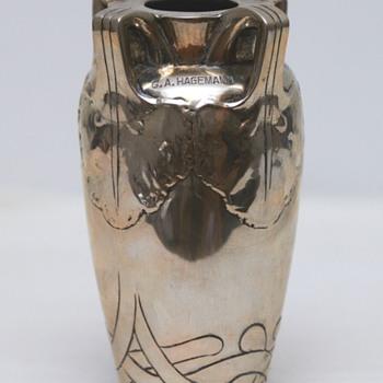 Silver Vase with Inscription (Denmark), 1905 - Art Nouveau